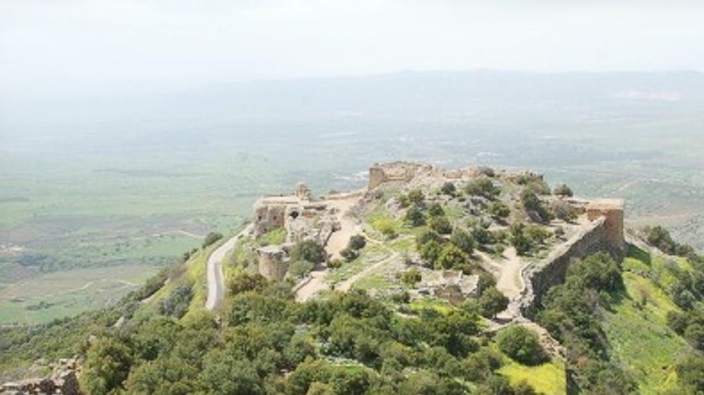 Nimrod Burg Golanhöhen Libanon Syrien Israel