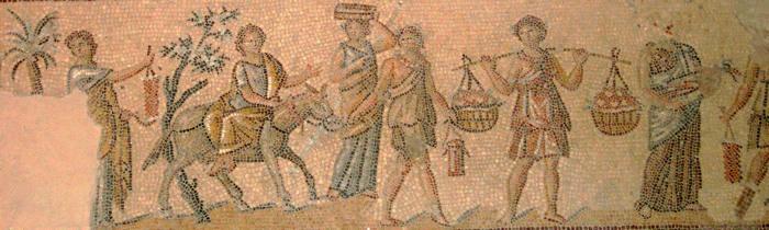 Mosaik in Sepphoris: Dionysos Kumpel