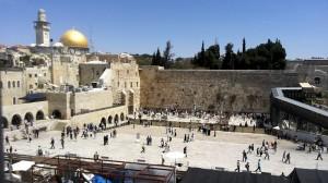 Die Klagemauer und der Felsendom in Jersualem