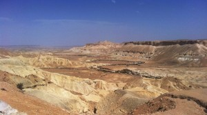 Blick in die Weite der Negev Wüste