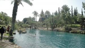 Baden in den Pools der Sachne-Quellen