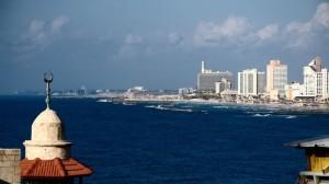 Blick auf die Skyline Tel Avivs von Jaffa aus