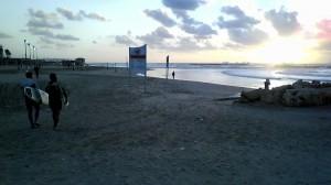 Der Strand in Tel Aviv